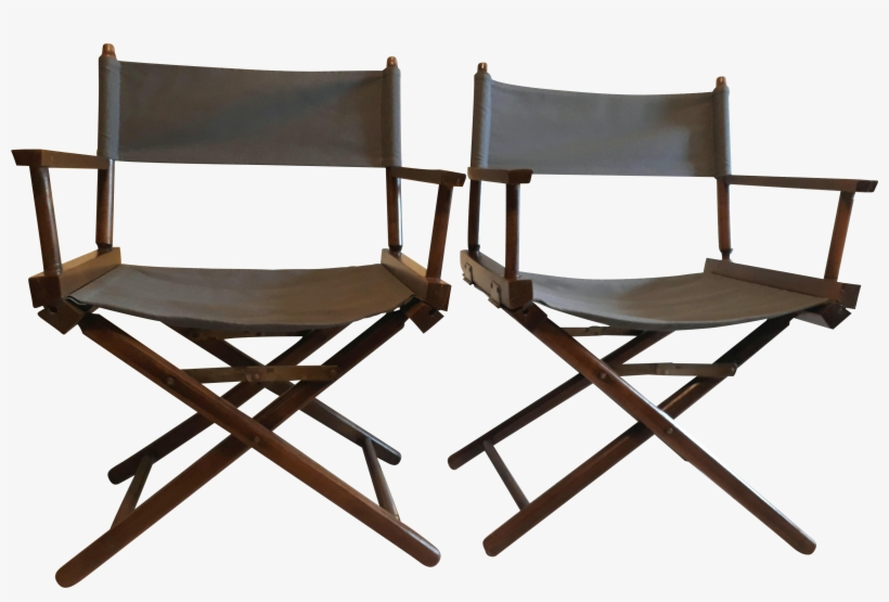 Vintage Restored Directors Chairs - Folding Chair, transparent png #7966737