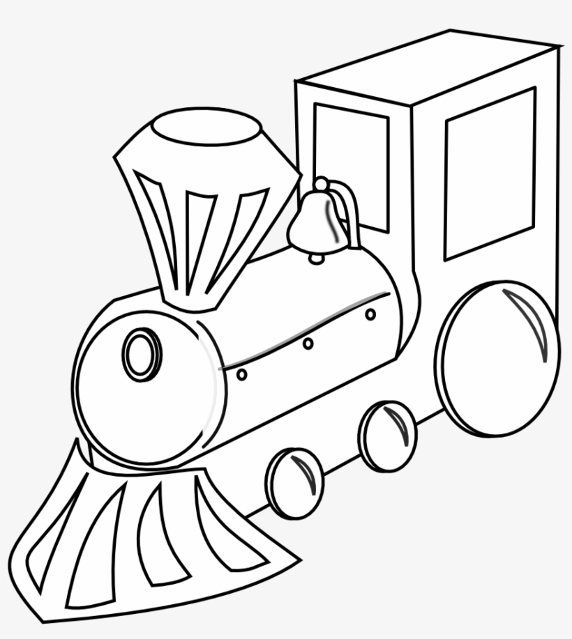 Vector Freeuse Toy Train Clipart Black And White