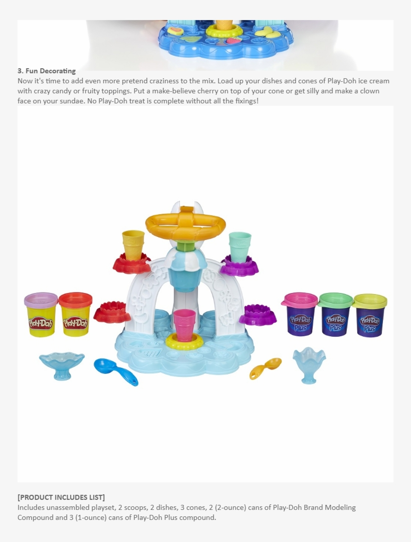 Specifications Of Play-doh Kitchen Creations Swirl - Play Doh Swirl N Scoop Ice Cream, transparent png #7974120