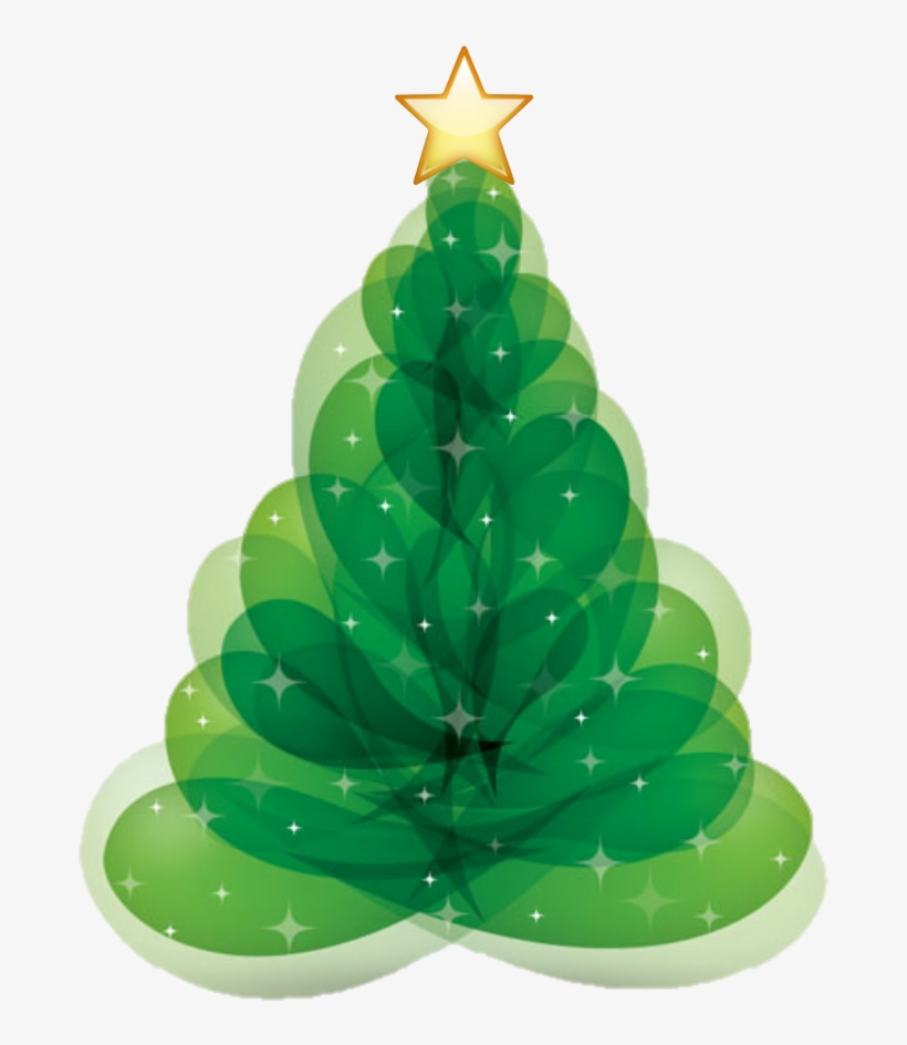 Tree Sticker - Merry Christmas Modern Cards, transparent png #7986773