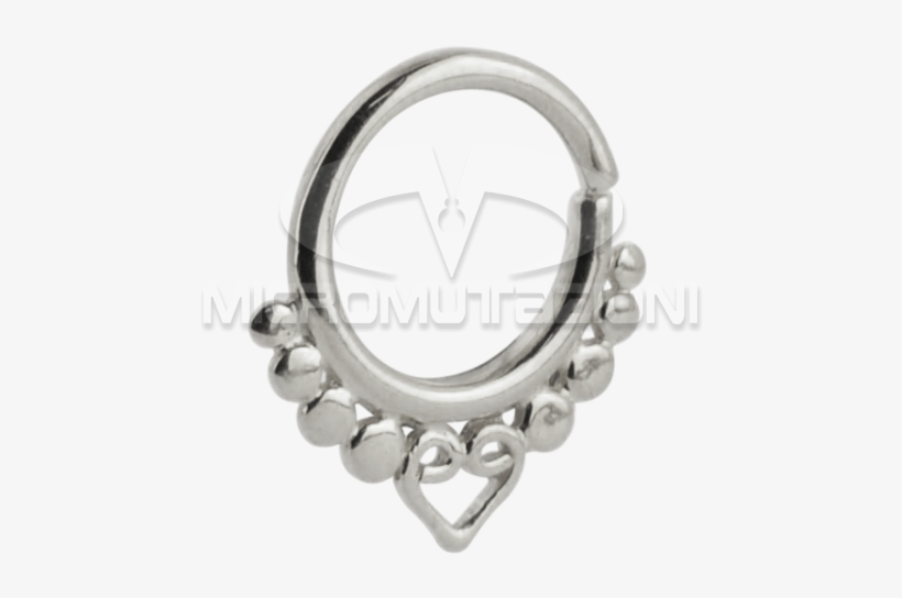 Silver Indian Ornament Septum Ring Septum Silver Free