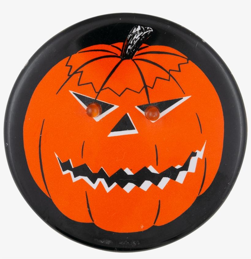 Jack O Lantern With Light Up Eyes Innovative Button - Jack-o'-lantern, transparent png #7992541