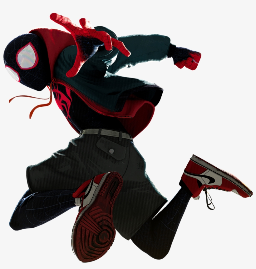 Into The Spider-verse Png - Spider Verse Spider Man Miles Morales, transparent png #7995924