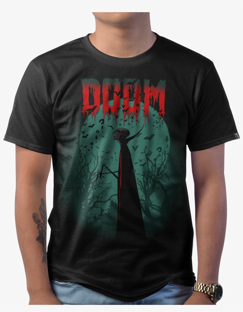 Doom Vampire - Blue T Shirt American Apparel, transparent png #7997625
