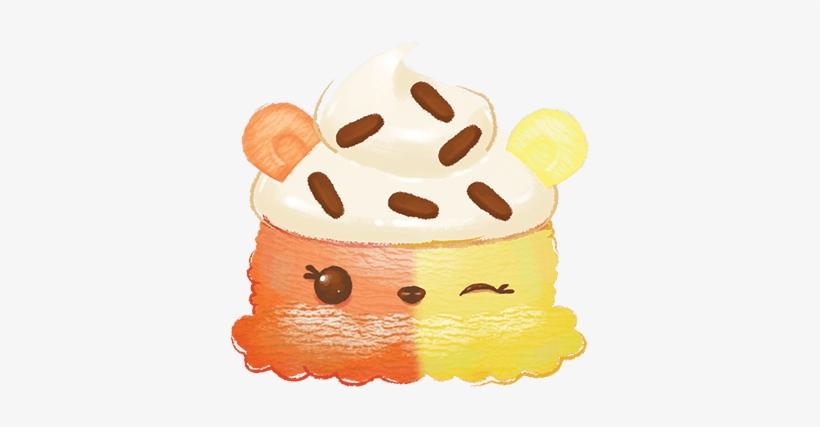 M-002 Ice Cream Num Autumn Cream - Birthday Cake, transparent png #80425
