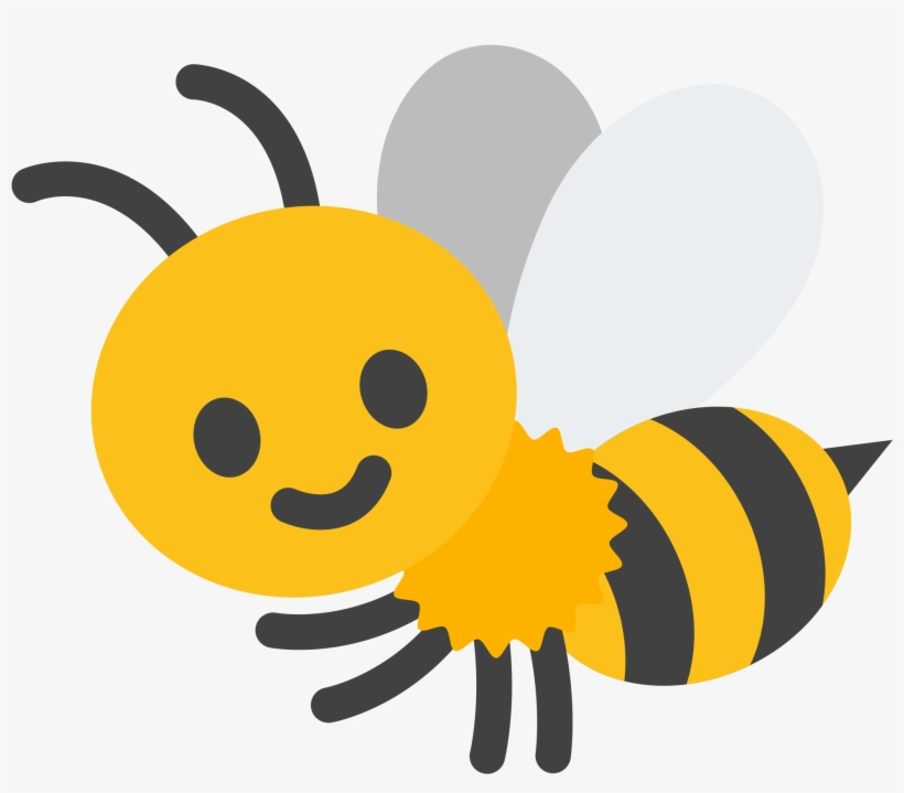 Open - Google Bee Emoji - Free Transparent PNG Download - PNGkey