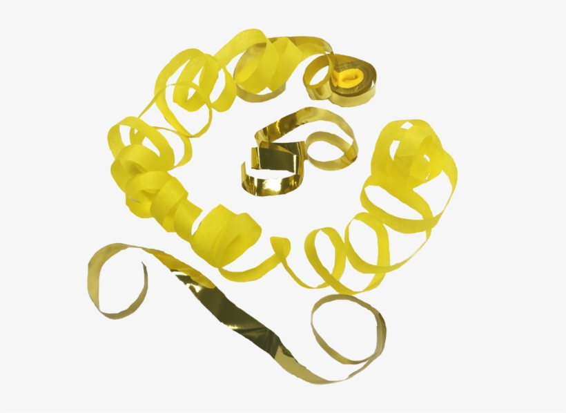 Times Square Confetti & Kabuki Streamer Confetti Yellow - Gold, transparent png #81017