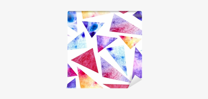 Watercolor Triangles Seamless Pattern - Watercolor Painting, transparent png #81322