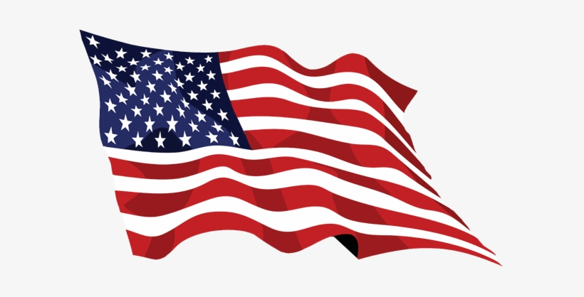 Memorial Day Png Image Background - Waving American Flag, transparent png #82884