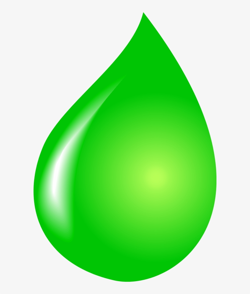 Cartoon Water Drop Clipart Kid - Green Water Drop Vector, transparent png #83325