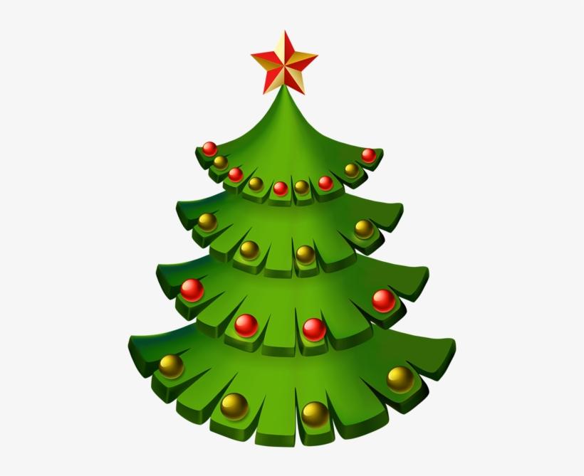 Christmas Tree Decorative Png Clip Art Image - Christmas Tree, transparent png #83392