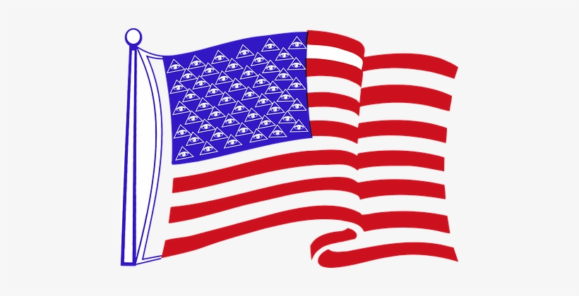 Flag Illuminati Surveillance Us Flag Illum - Us Flag Store American Flag Waving Magnet, transparent png #84025