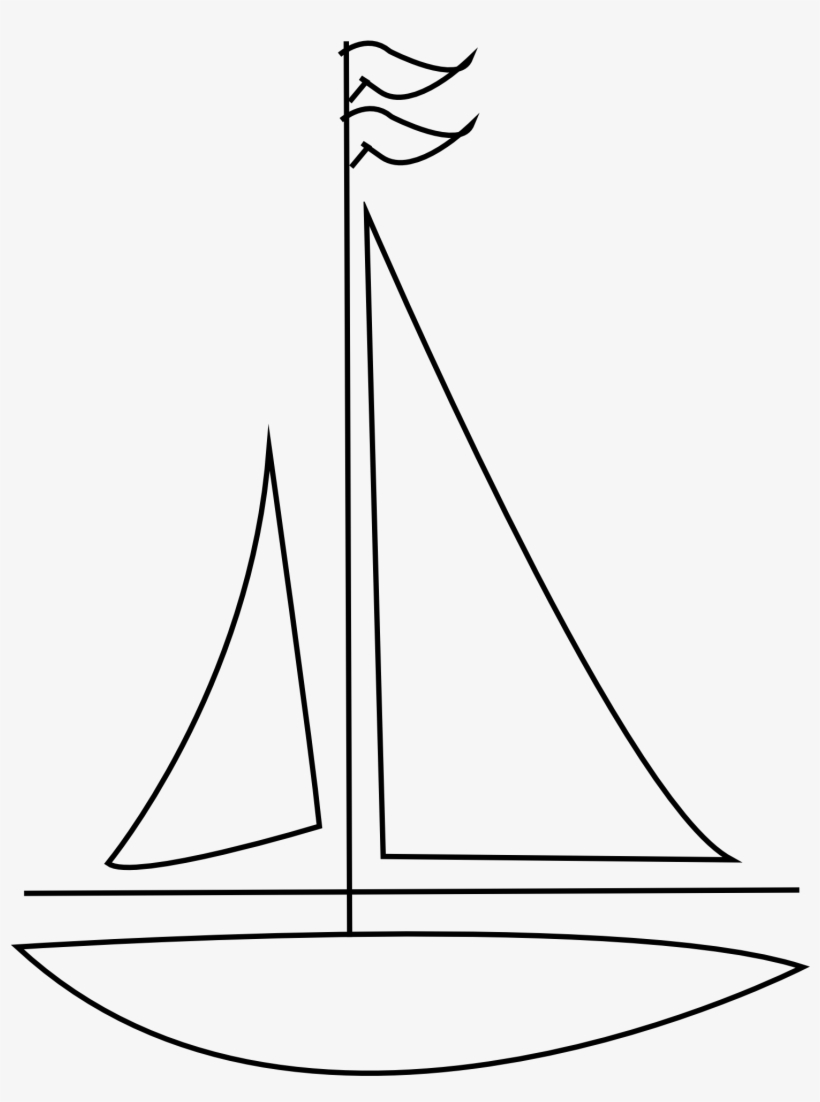 Image Black And White Stock Sailboat Images Buscar - Line Drawing Sail Boat, transparent png #84193