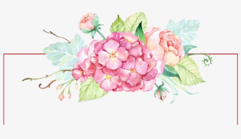 Free Watercolor Banner With Flowers Png - Watercolor Flower Paint Png, transparent png #84278