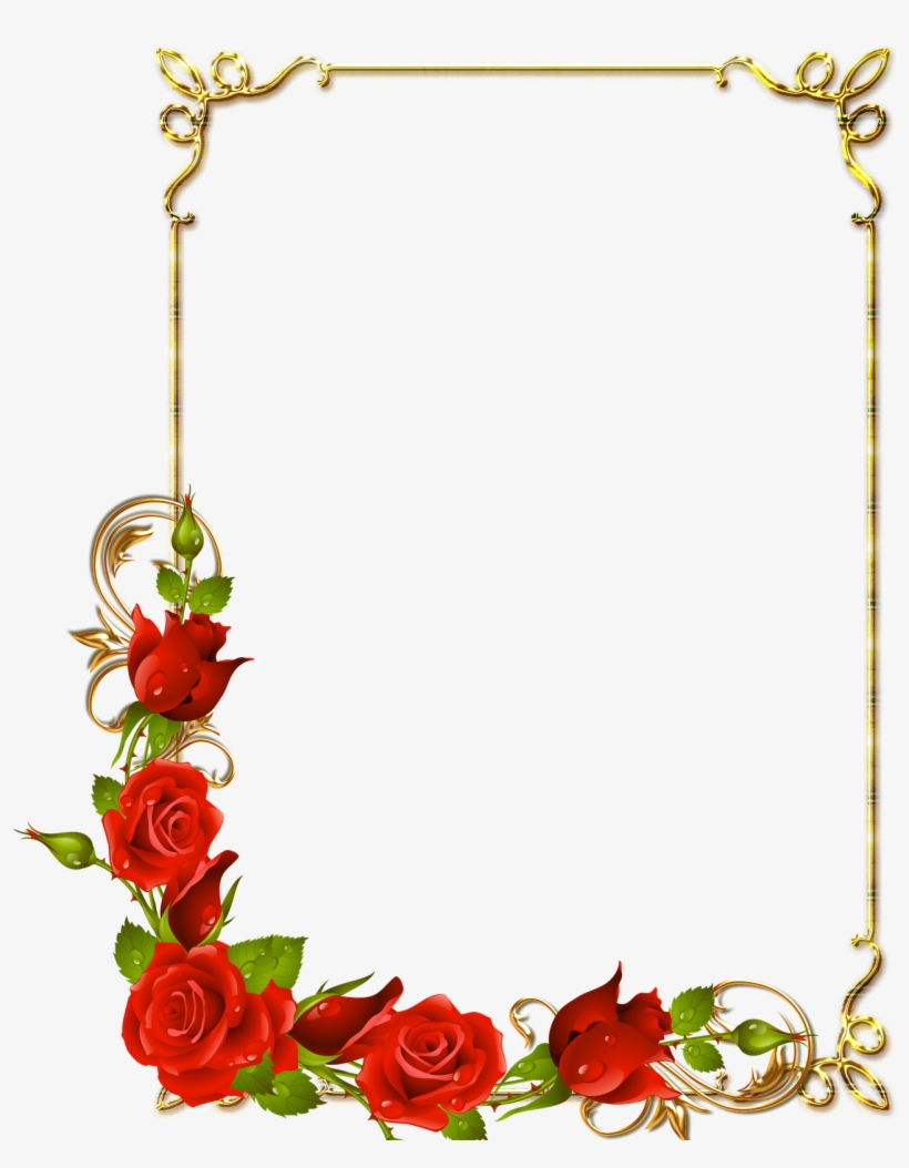 11 Photoshop Frame Png Borders Images Photoshop Borders - Page Border Designs Flowers, transparent png #84531