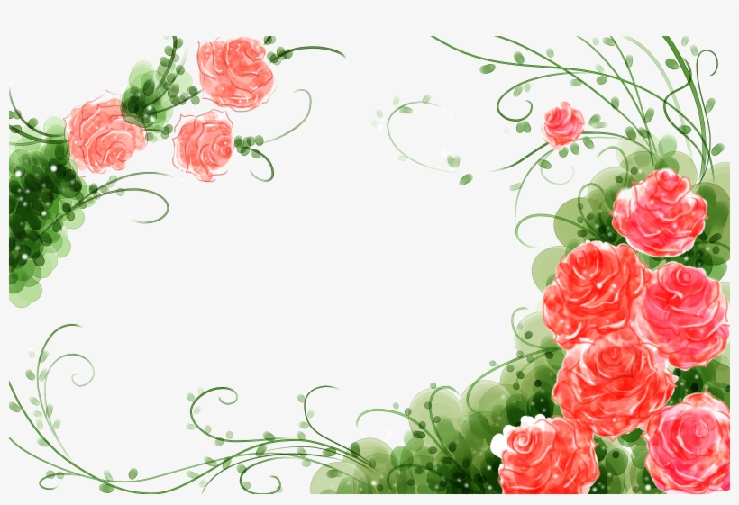 Svg Freeuse Stock Garden Roses Flower Watercolor Painting - Rose Flower Background Design Png, transparent png #85516