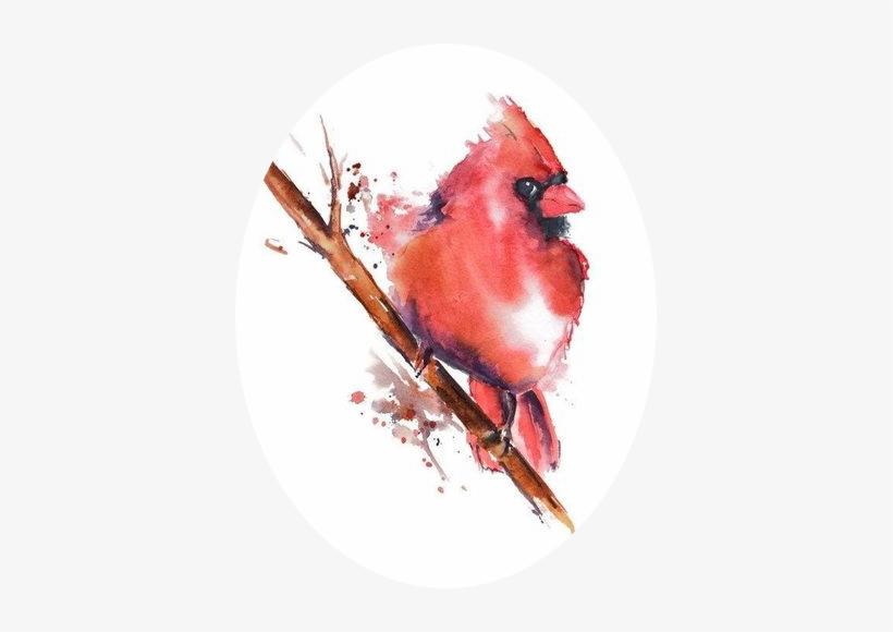 [watercolor Painting] Watercolor Animals, Watercolor - Watercolor Cardinal Art, transparent png #85670