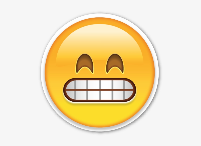 If You Are Looking For The Emoji Sticker Pack, Which - Grimacing Face Emoji Png, transparent png #86454