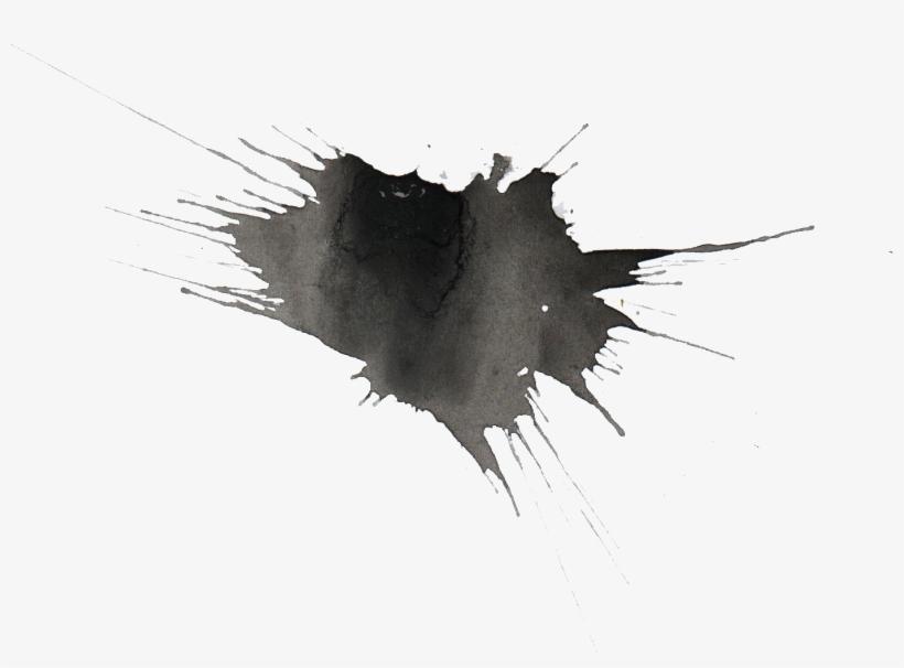 Png File Size - Black Watercolor Splatter Png, transparent png #86811