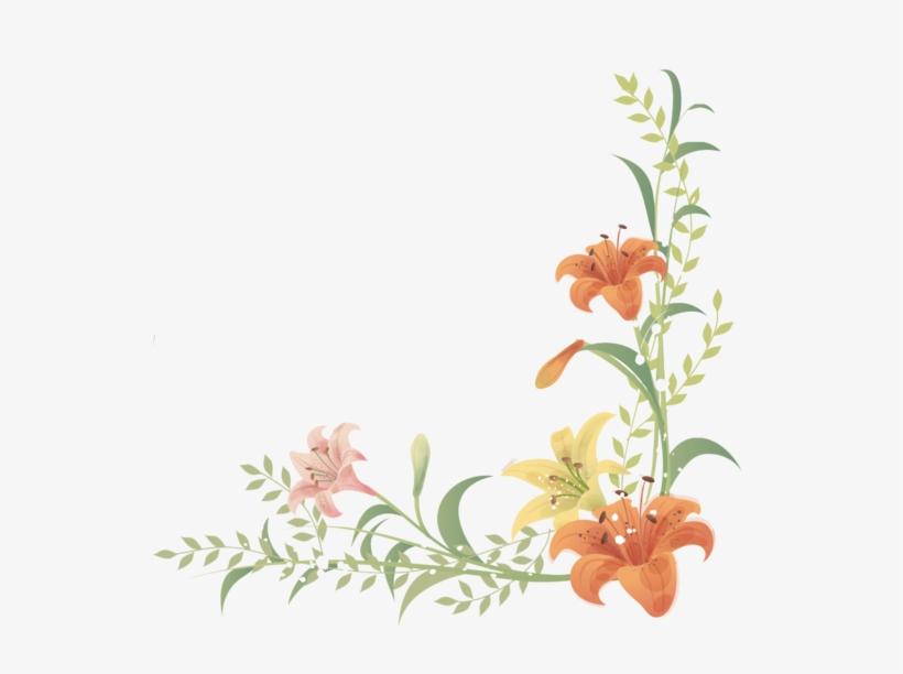 Resultado De Imagen De Barras Separadoras Flores Verdes - Png Floral Border Frames, transparent png #86953