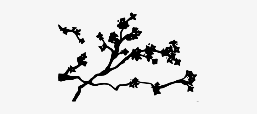 Cherry Blossom Clipart By Kaitsakii On Deviantart Image - Black Cherry Blossom Png, transparent png #88168