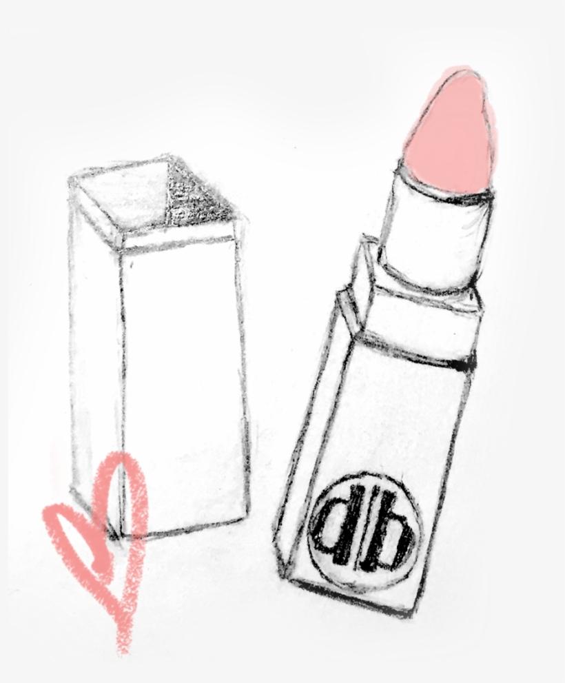 Drawing Lipstick Sketch Banner Freeuse Download - Sketch, transparent png #88560