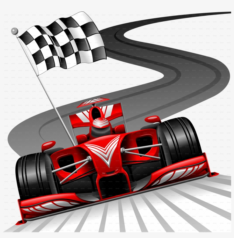 B Formula 1 Red Car On Race Track Jpg 900 C Checkered - Formula 1 Red Race Car Throw Blanket, transparent png #88613