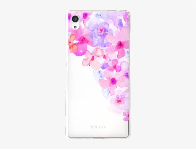 Bright Purple Watercolor Flowers Painted Floral Design - Hydrangea, transparent png #88765