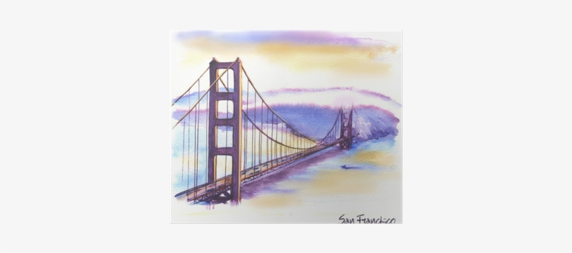 Hand-drawn Watercolor Drawing Of The American Landscape - Famous New Building Drawings, transparent png #89904
