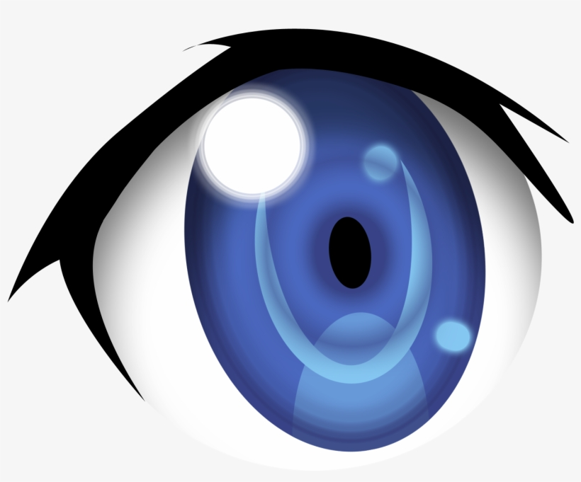 Eyes anime. Blue clipart eye png