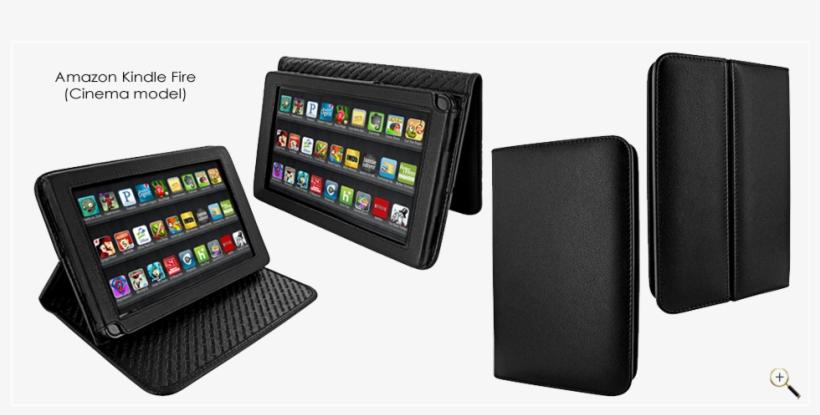 Amazon Kindle Fire - Piel Frama Amazon Kindle Fire Black Cinema Leather, transparent png #801721