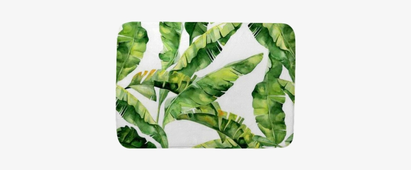 Pattern With Tropic Summertime Motif May Be Used As - Dense Jungle Round Mouse Pad Customized Non Slip Rubber, transparent png #802479