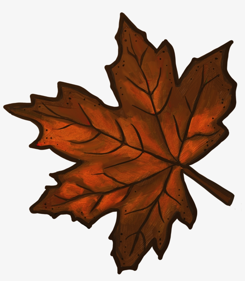 Clip Arts Related To - Brown Leaves Clip Art, transparent png #802678