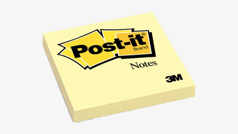 """Post-its - 3m Post It Notes 4 Pads 3"""" X 3"""" Yellow (6-pack), transparent png #805426"""