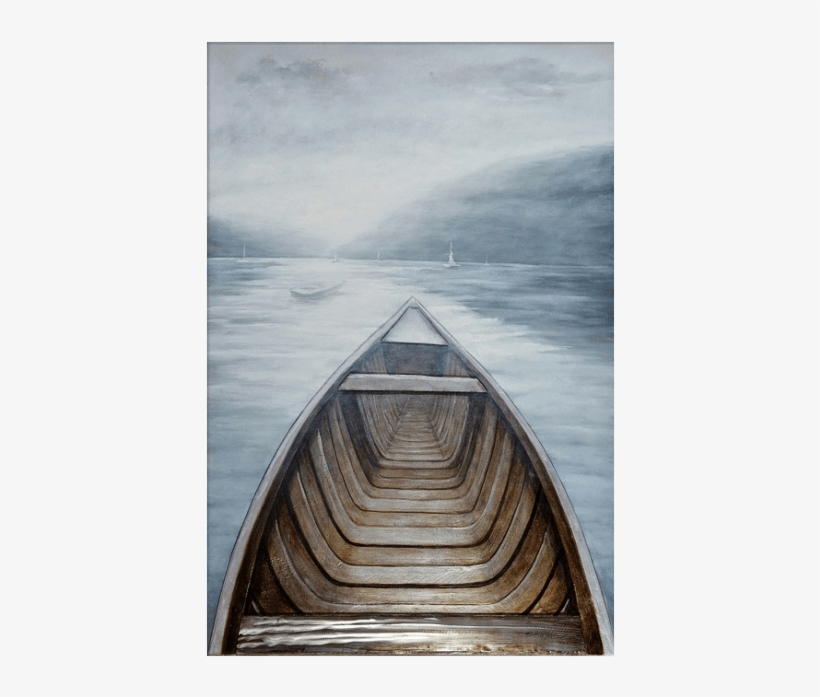 3d Oil Painting Art Row Boat Ocean First Person Point - Row Boat First Person, transparent png #807983