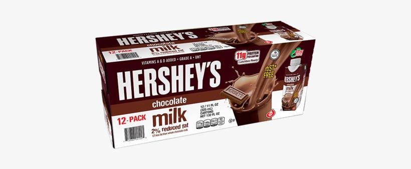 2% Chocolate Milk - Hersheys Hersheys 2 Chocolate Milk 12 Pk.11 Oz., transparent png #808011