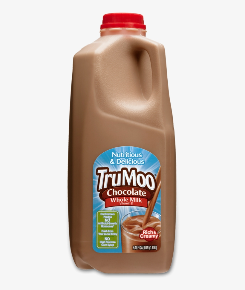 Trumoo Whole Chocolate Milk - Trumoo Milk, Fat Free, Chocolate - 8 Fl Oz, transparent png #808096