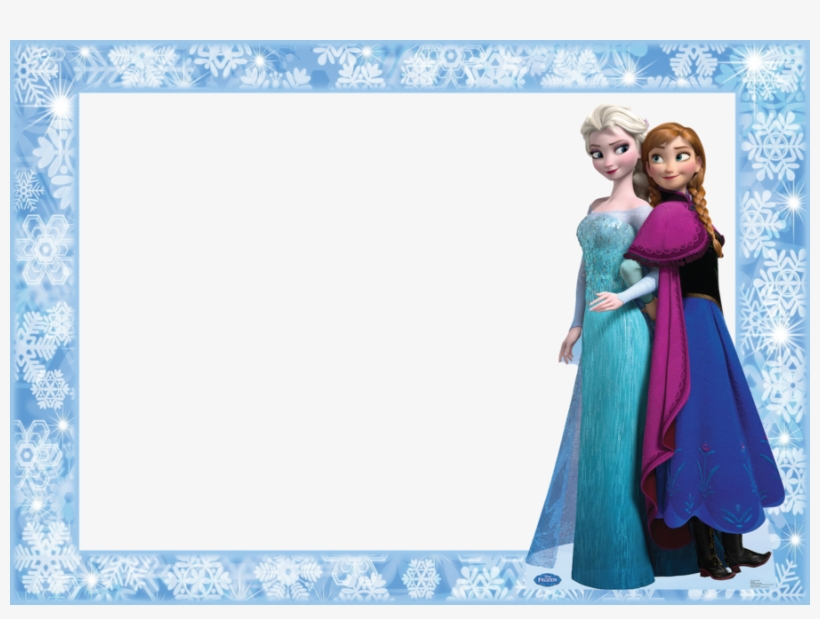Disney Frozen Anna And Elsa Cardboard Cut-out Clipart - Disney Frozen Anna And Elsa Cardboard Cut-out, transparent png #808251