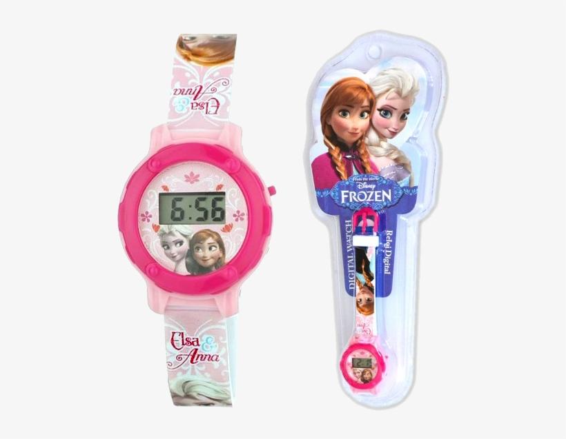 Official Wrist Watch Disney Frozen Anna E Elsa - Frozen, transparent png #808299