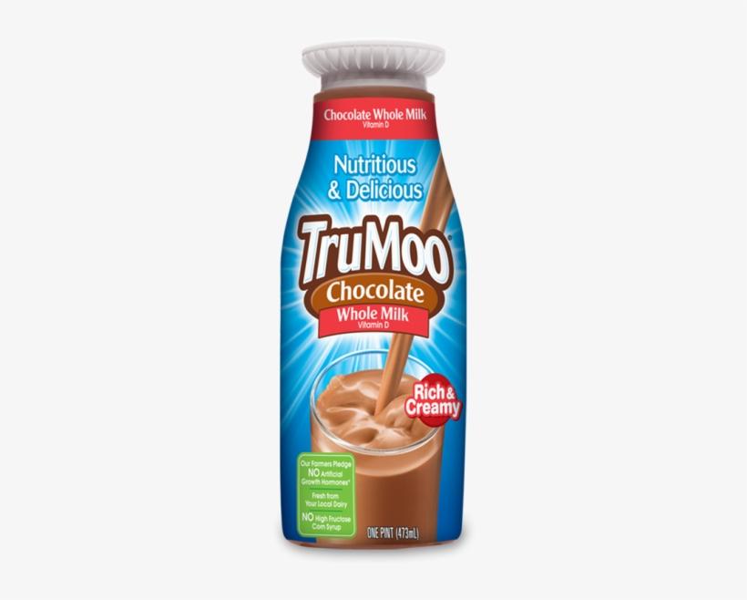 Trumoo Whole Chocolate Milk - Trumoo Milk, Whole, Chocolate - 0.5 Gal (1.89 Lt), transparent png #808321