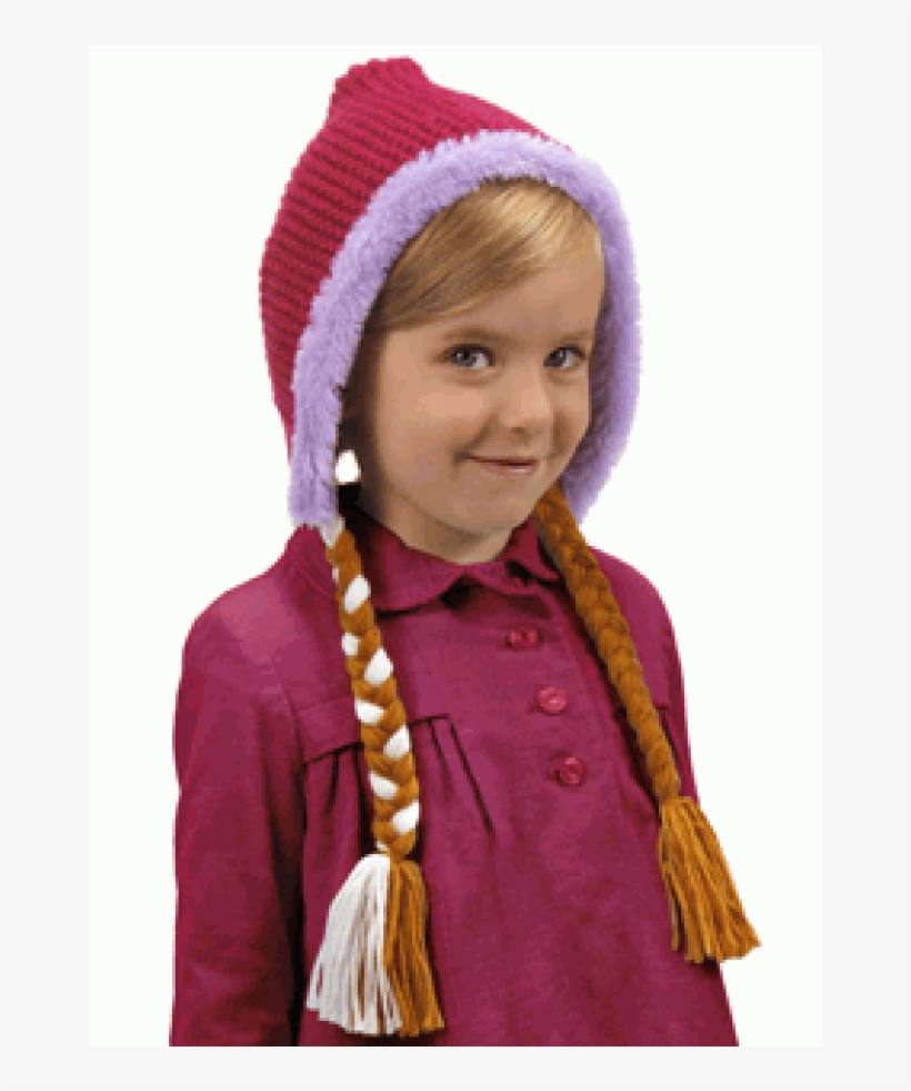 Disney Frozen Anna Hoodie Hat At Cosplay Costume Closet - Disney Frozen Anna Hat, transparent png #808526