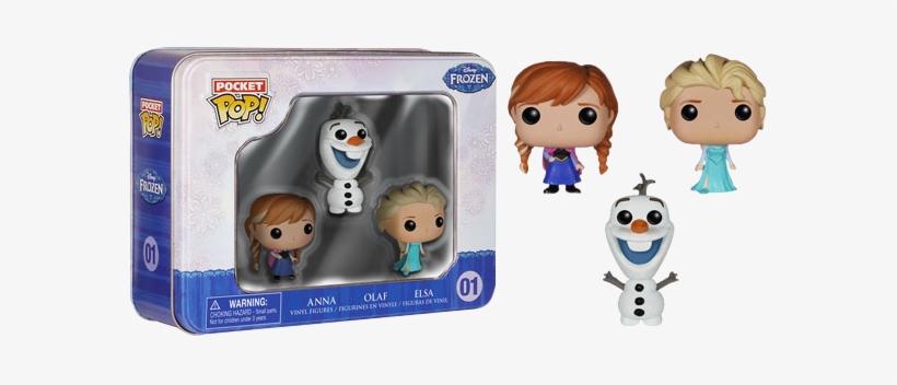 Elsa, Anna And Olaf Pocket Pop 3-pack Tin - Funko Frozen Pocket Pop! Mini Vinyl Figure Tin (3-pack), transparent png #808567