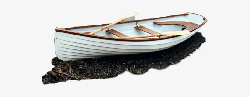 Rowboat Riverbank Sticker Freetoedit - Row Boat On Beach, transparent png #808590