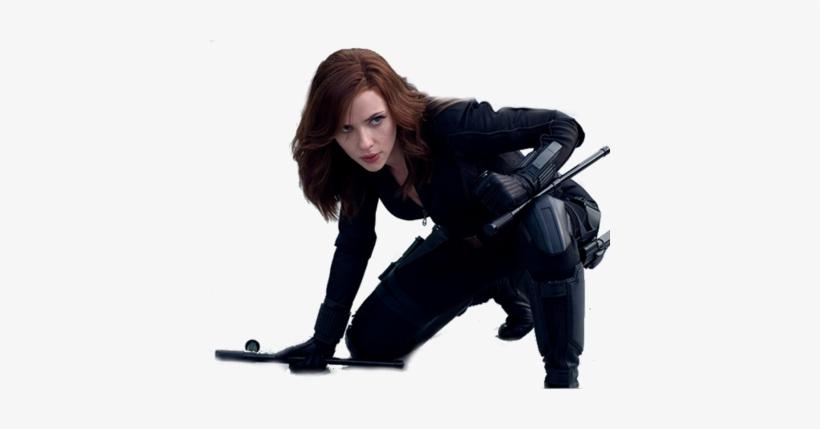 New Image Transparent Black Widow - Captain America Civil War Black Widow Costume, transparent png #808689