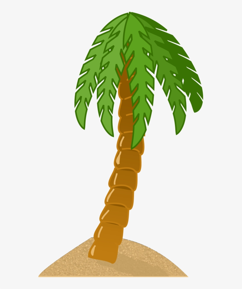 Palm Leaves,island, - Palm Tree Clip Art, transparent png #809636