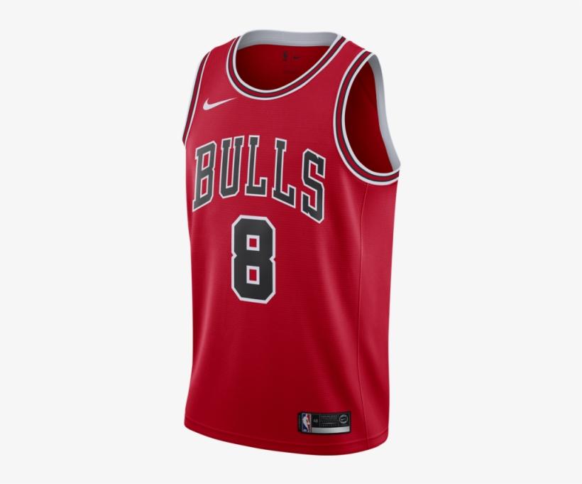 Nike Zach Lavine Icon Edition Swingman Jersey - Nike Chicago Bulls Michael Jordan Jersey, transparent png #8002963