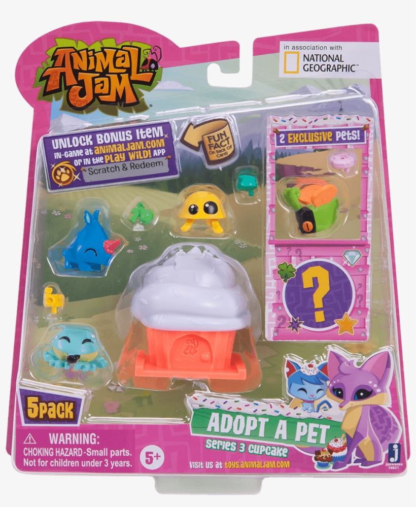 Adopt A Pet Cupcake 5pk - Animal Jam Play Wild Toys, transparent png #8003815