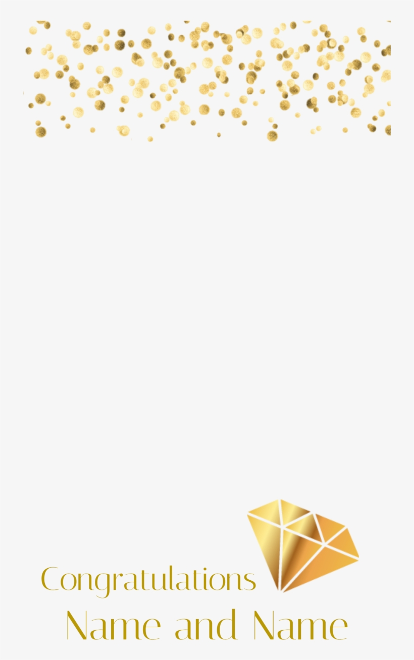 Fresh Snapchat Filter Template - Transparent Gold Confetti Background, transparent png #8004737