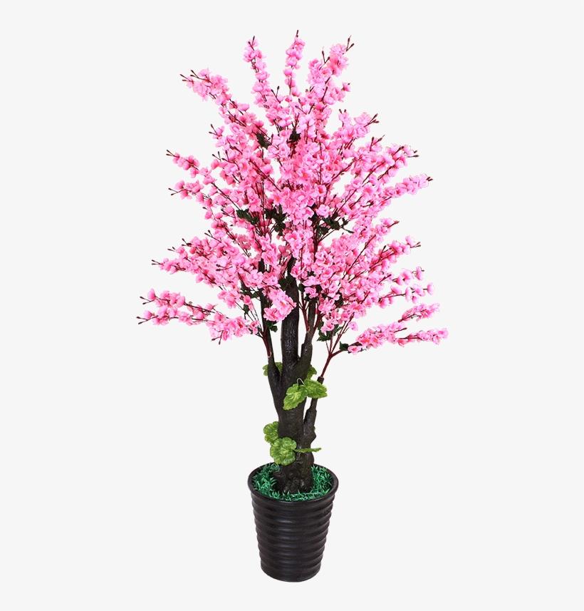 False Peach Flower Simulation Plant Floor Pot Peach - Peach Blossom Flowers Tree Png, transparent png #8013312