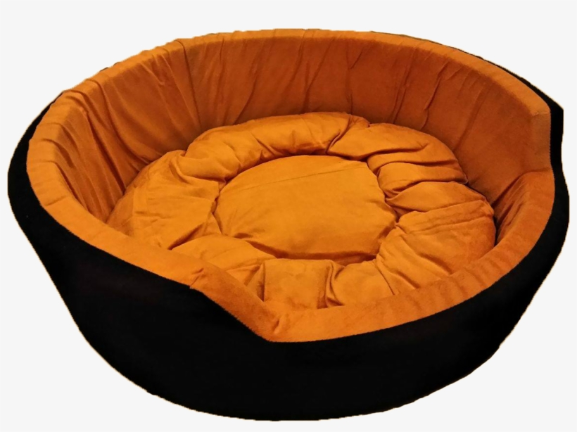 Round Dog Bed Large In Golden Black, Large Round Sofa Bed
